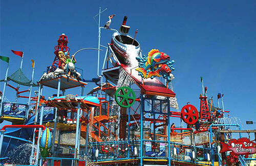 the perfect storm play structure for kids in breakwater beack on seaside heights boardwalk